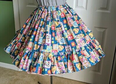 $20 • Buy Square Dance Skirt Perfect For Valentines Day M 21