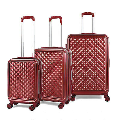 """View Details 3PCS ABS Luggage Hardside Spinner Lightweight Durable Spinner Suitcase 20""""24""""28"""" • 88.16$"""