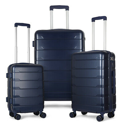 View Details 3 Piece  Luggage Cases  PC+ABS Spinner Suitcase 20 Inch 24 Inch 28 Inch • 89.70$