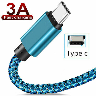 AU8.69 • Buy Braided USB C Type C Fast Charge Cable Charger Data Cord For Samsung S9 A71 A51