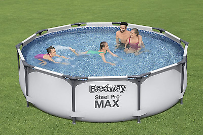 £169.99 • Buy Bestway 10ft Steel Pro Max Swimming Pool With Filter/Pump TRUSTED SELLER