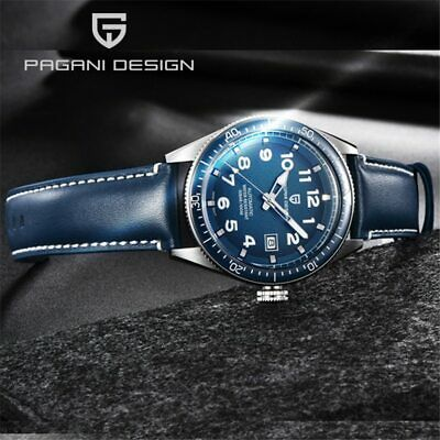 $ CDN112.78 • Buy Pagani Design Men's Pilot Automatic Watch Genuine Leather Band Watches 1649