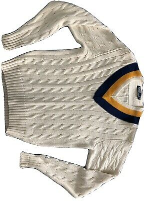 $62.89 • Buy Vintage Ralph Lauren Polo Cable Knit Cricket Sweater