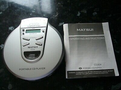 £4.99 • Buy Matsui Portable Personal Cd Player Silver Cd304