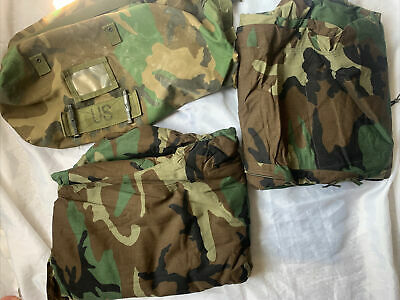 $30 • Buy US Military Chemical Protective Suit Jacket Pants Camo XL 8415-01-137-1706