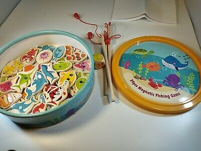 £6.99 • Buy Milly & Ted Wooden Magnetic Fishing Game Used Excellent Condition  Nice Quality