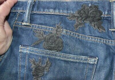 £29.95 • Buy LEVI'S Womens 512 Jeans Black Rose Embroidered W33 L34 Brand New