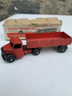 £40 • Buy DINKY SUPERTOYS BEDFORD ARTICULATED LORRY No.521 - BOXED - MADE BY MECCANO LTD