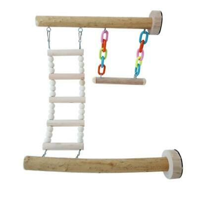£9.11 • Buy Bird Perch Stand Toy Parrot Swing Climbing Ladder Birdcage Play Gyms Playground