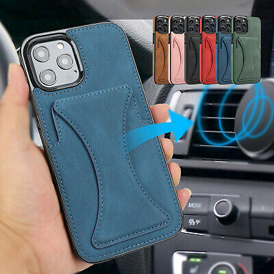 AU14.99 • Buy For IPhone 12 11 Pro Max XS XR 8 7 Magnetic Stand Leather Case Card Holder Cover