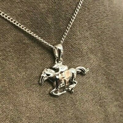 £79 • Buy Clogau Silver & Rose Gold Chester Racecourse Horse And Jockey Pendant £10 OFF!
