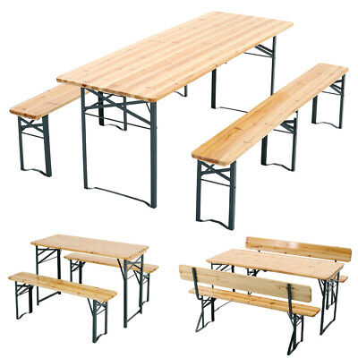 £195.95 • Buy 6/8/10 Seater Folding Table Bench Set Garden Outdoor Picnic Party Beer Table