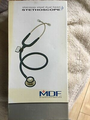 £10 • Buy MDF Instruments Stainless Steel Dual Head Stethoscope - All Black