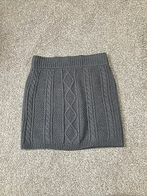£0.99 • Buy Ladies Primark Grey Cable Knit Mini Skirt Size 10