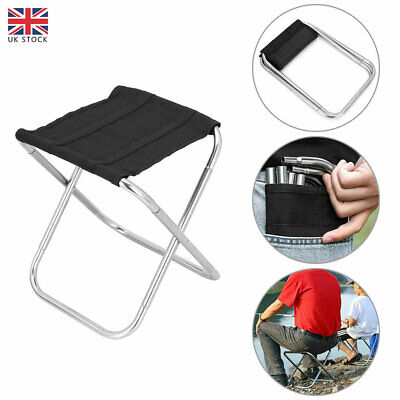 £12.26 • Buy Portable Aluminum Folding Chair Stool Seat Outdoor Fishing Camping Hiking Travel