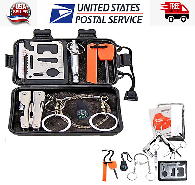 $16.99 • Buy Camping Survival Emergency Gear SOS Kit Tools Outdoor Tactical Military Pouch