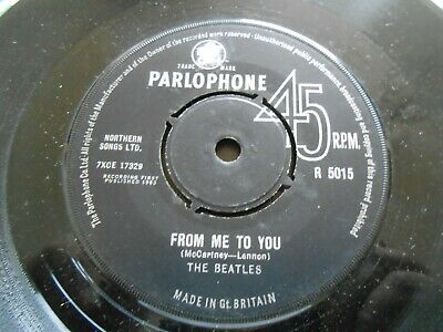 £5 • Buy The Beatles -  From Me To You / Thank You Girl  PARLOPHONE 7  Single