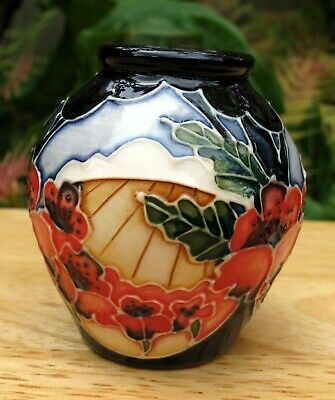 £95 • Buy Moorcroft Forever England Miniature Vase 4/2 First Quality RRP £200 Poppy Fields