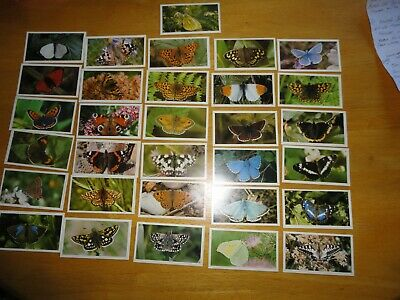 £5 • Buy Set Of 31 Grandee Cigars Collectable Cards.(british Butterflies)