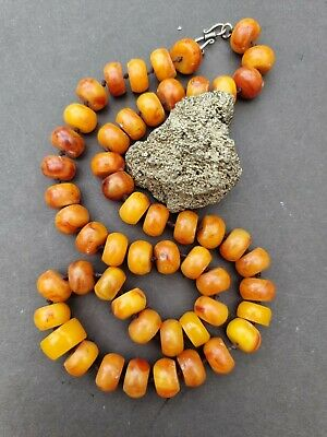 £5 • Buy African Resin Fake Amber Long Butterscotch Bead Necklace Vintage Ethnic