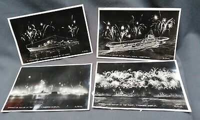£7.50 • Buy Photograph Postcards Coronation Review Of The Fleet C1953 Fireworks HMS Navy