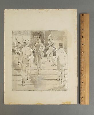 £9.71 • Buy Signed ISABEL BISHOP New York Social Realist Hand-Colored Etching Print, NR