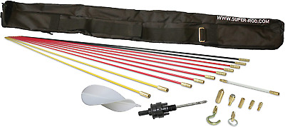 £166.08 • Buy Super Rod Utility, Set Includes 10m, 52ft Installation Kit With 19 Cable SRAK10