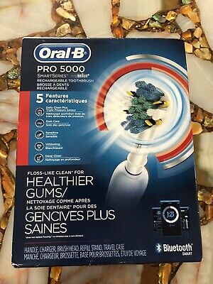AU25.67 • Buy Oral-B 5000 SmartSeries Electric Toothbrush Rechargeable White Powered By Braun
