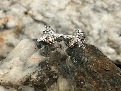 £49 • Buy Official Welsh Clogau Silver & Rose Gold Honey Bee Earrings £30 Off!