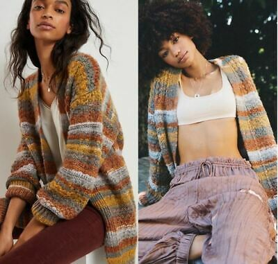 $ CDN87.19 • Buy Anthropologie Lucy Textured Striped Cardigan Size Xtra Small