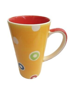£12.99 • Buy Whittard Of Chelsea Tall Spotty Latte Mug. Yellow With Spots