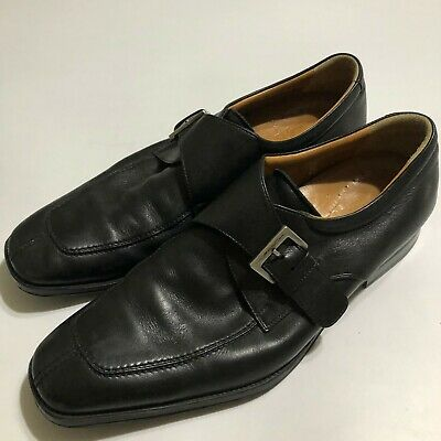 £28.81 • Buy Moreschi Mens Dress Shoes Size 8. Monk Strap Black Leather Loafers Made In Italy