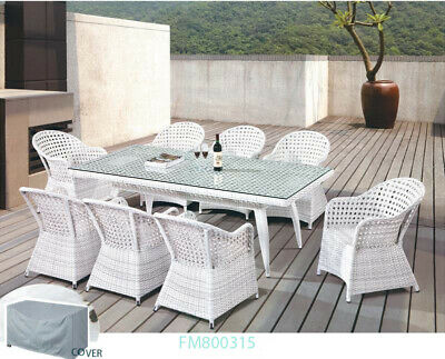 AU1845 • Buy 9 Pieces Luxurious Outdoor Modular Dream Dinning Setting-one Left
