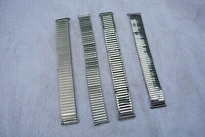 £18 • Buy Watch Expandable Straps Various Sizes Silver Coloured Most 17mm To 20mm V/Good