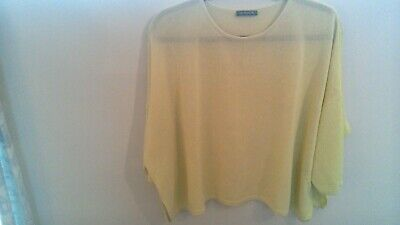 £35 • Buy Awesome OSKA Viscose Mix Citrus Yellow Slouchy Knitted Boxy Jumper 58  Bust Sz.1