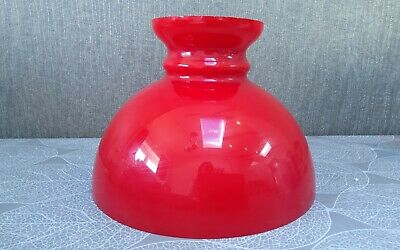 £28 • Buy Vintage Aladdin (23) Cased Ruby Red/ White Glass Oil Lamp Shade.