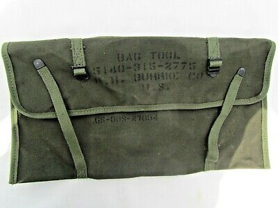 $21.99 • Buy Original Us Military Army, Usmc Canvas Electricians Tool Kit Bag - Stenciled