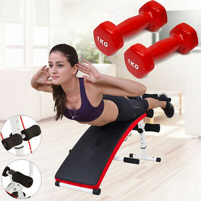 £45.89 • Buy Adjustable Foldable Sit Up Bench Incline Home Gym Workout Machine Excersice UK