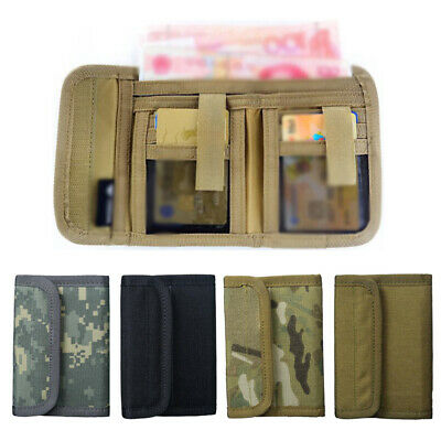 $ CDN19.33 • Buy Men's Two-Fold Wallet Tactical Non Stick ID Window  Compartment Pocket Card Bag