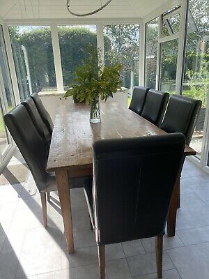 £300 • Buy Beautiful Indonesian Solid Teak Table With Leather Solid Wood Chairs Used