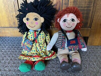 £65 • Buy Rosie & Jim Canal Narrowboat Plush Beanie Rag Dolls With Their Tote Bags