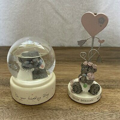 £9.99 • Buy Me To You Wedding Day Snow Globe And Special Bridesmaid Photo Clip Figurine