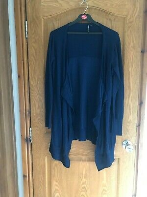 £4.50 • Buy Lovely Blue Waterfall Cardigan Size 20/22 Excellent Condition