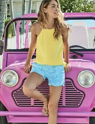 """$21 • Buy NWT Lilly Pulitzer """"Lilly's Lemon"""" Top Small"""