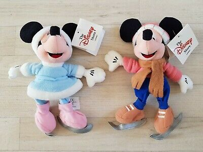 £11.99 • Buy DISNEY MICKEY AND MINNIE MOUSE ARCTIC FREEZE PLUSH Soft Toy ICE SKATING Bean Bag