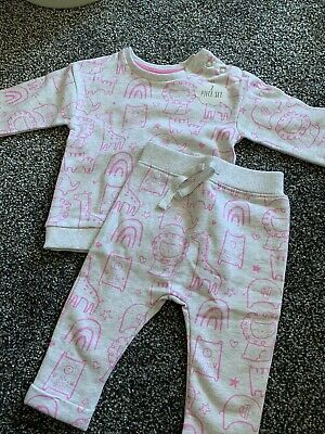 £1.30 • Buy George Baby Sweatshirt And Joggers Outfit Set 3-6 Months Animals Print