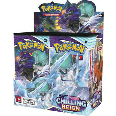 AU44.98 • Buy POKEMON Chilling Reign Booster Box - Factory Sealed Booster Box