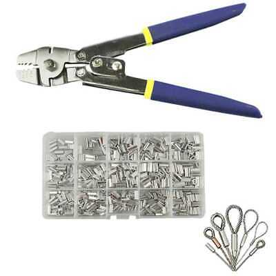 AU36.99 • Buy Stainless Steel Fishing Pliers Wire Rope Crimping Tool With 150Pcs Ferrule Crimp