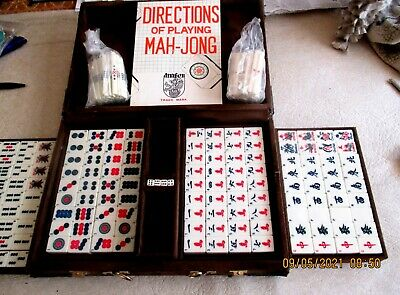 $55.58 • Buy Mahjong Mah-jong Complete Set Never Used Directions For Playing Chinese