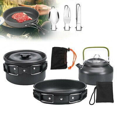 £21.99 • Buy 2-3 Camping Cookware Kit Portable Cook Set Outdoor Picnic Cooking Equipment UK